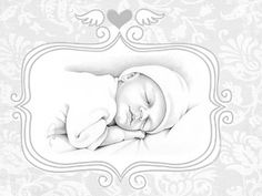 angel baby, infant loss keepsake art