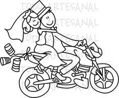 Timbre numérique - mariage - Donwload instantanée de la moto