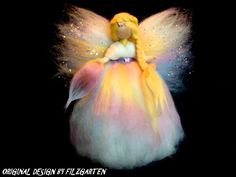 SCHUTZENGEL Jahreszeitentisch ENGEL FEE ELFE KIND MÄRCHENWOLLE WALDORF Yarn Dolls, Felt Dolls, Wet Felting, Needle Felting, Felt Angel, Felt Fairy, Christmas Tree Toppers, Felt Ornaments, Wool Felt