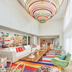 The opulent waiting area at the Tierra Santa Healing House spa at Faena Hotel Miami Beach