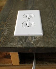 DIY built-in extension outlet for the guest room bunk beds
