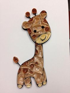 Paper quilling: adorable animals penguin giraffe elephant