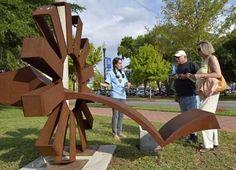 Polk Museum of Art (FL) awarded MFA alumni Duke Oursler 2nd place for his sculpture, 'Atomic Clock.'   Betty Foy Sanders Department of Art, BFSDoArt, Georgia Southern University. #BFSDoArt #BFSDoArtAlumni #georgiasouthern