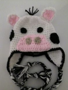 MADE TO ORDER Cow Crochet Hat for Hailey