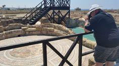 Ein Foto von einem der zahlreichen Mosaike im Archäologischen Park in Paphos