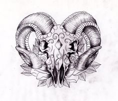 Rams head sugarskull Sketch by *Nevermore-Ink on deviantART.