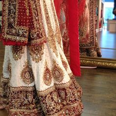 traditional red and white indian bridal wear - Google Search
