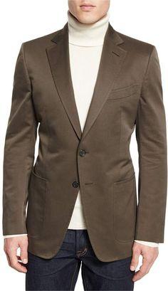 291471a42f6 Tom Ford O Connor Base Gabardine Sport Jacket