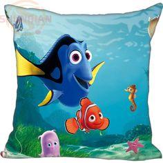 Hot Sale New Custom Finding Dory Square Pillowcases zipper Custom Pillow Case 20x20cm 35x35cm 40x40cm
