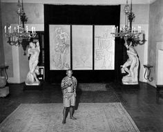 """""""When I was a child my mother said, 'If you become a soldier, you'll be a general. If you become a monk, you'll be the pope.' Instead I became a painter and wound up as Picasso.""""France, 1948."""