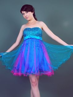 2011 Style Empire Sweetheart  Sleeveless Short / Mini  Tulle  Bridesmaid / Cocktail Dresses / Homecoming Dresses