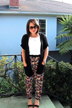 The Caffeinated Closet: Fancy Pants featuring our floral pants!