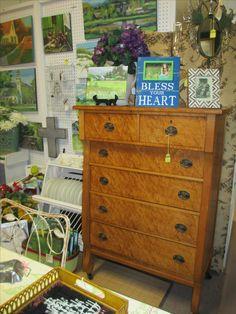 Antique Birds Eye Maple Dresser Booth: B22 Price: $235.00 Maple Furniture, Antique Furniture, Birdseye Maple, Period, Dresser, Antiques, Storage, Projects, Diy