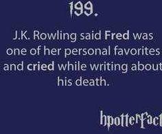 She also cried when writing Sirius' death :'(