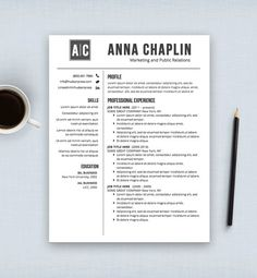 Resume Template  Cv Template  Cover Letter  Mac Or Pc
