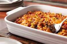No need to peel and cut up the potatoes for this beefy, cheesy casserole. We used Southern-style hash browns to make things easier for you.