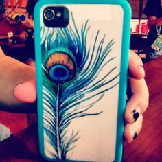 #peacockfeather #iphonecase i soo have this!!!!