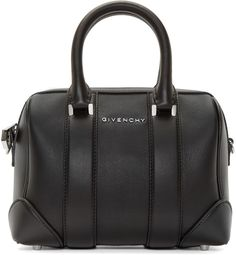 Givenchy Black Leather Micro Lucrezia Duffle Bag - ShopStyle Women