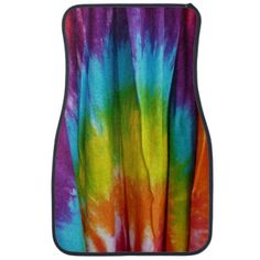 Tie-Dye Fabric Print Floor Mats