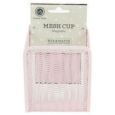 Locker Style™ Mesh Cup, Magnetic - Blush : Target