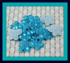 Pink Or Blue Butterfly Padded Sequin Appliques by angelsandcrafts, $1.50