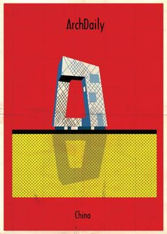 Federico Babina's Latest Archi-Illustrations: Classic National Architecture (With A Twist) Architecture Details, Architecture Tools, Minimalist Poster, Building Design, Building Sketch, Urban Design, Design Art, Superstar, Graphic Design Inspiration