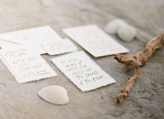 Seaside Wedding Inspiration Invitations via Wedding Sparrow  http://weddingsparrow.co.uk/2014/07/09/found-in-the-sea-beach-wedding-inspiration/