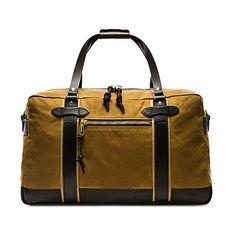 Filson Meridian Duffle (32.880 RUB) ❤ liked on Polyvore featuring men's fashion, men's bags, handbags, mens duffle bags, mens leather duffle bag and mens leather bags