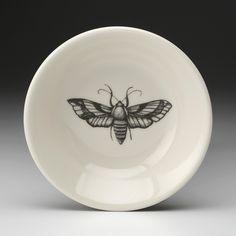 Laura Zindel Design - Sauce Bowl: Striped Moth, $20.00 (http://www.laurazindel.com/sauce-bowl-striped-moth/)