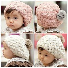 Hair Accessories For Baby Girls Boy Baby Headwear Casual Winter Crochet Doll Deer Knit Hat Striped Kids Headwear Headbands Professional Design Home