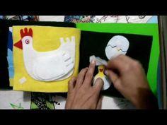 quiet book libro didáctico de fieltro - YouTube