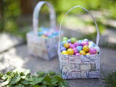 Make a woven basket using paper maps. This gender-neutral idea will be popular with kids of all ages.