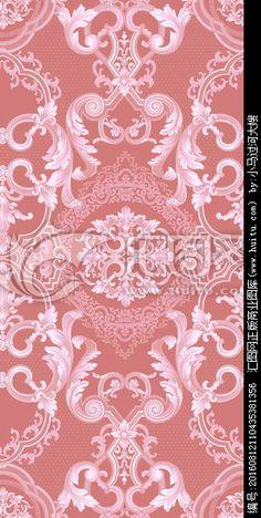 古典欧式卷草花卉印花图案无分层