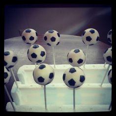 Soccer cake pop
