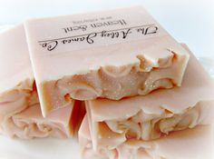 Heaven Sent  Gourmet Soap Abbey James Co. by AbbeyJames on Etsy, $6.75  A light and angelic blend of pink jasmine, lily of the valley, amber and Egyptian musk, and a hint of citrus.