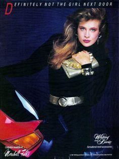 Whiting Davis Ad 1987 Model Frederique Van Der Wal