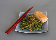 Grüne Bohnen mit Sesamdressing