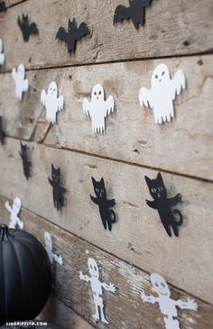 Garland for Halloween Decoration Ideas - Lia Griffith