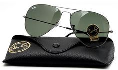Original Ray-Ban Aviator Sunglasses with the tear drop shaped lenses