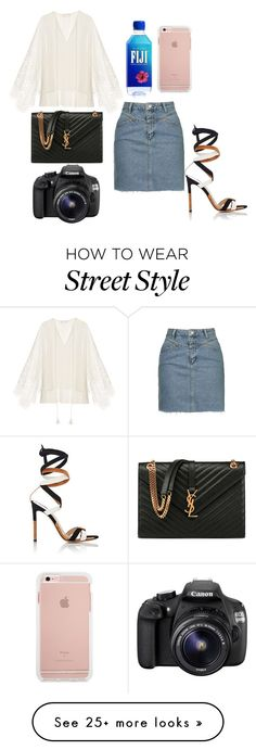 """""""street style-spring"""" by marija-colic7 on Polyvore featuring Gianvito Rossi, Chloé, Yves Saint Laurent, Topshop and Eos"""