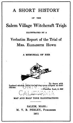 salem witch trials essay titles An essay on modern-day witch hunts could include any lessons that we as a society have learned from the salem witch trials examples of modern-day witch hunts include the communist hunts and the events of the early 1950s that inspired the crucible by arthur miller.