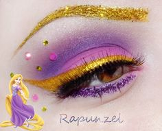 Rapunzel Eye Make-up Rapunzel Makeup, Disney Eye Makeup, Disney Inspired Makeup, Disney Princess Makeup, Eye Makeup Art, Beauty Makeup, Tangled Rapunzel, Disney Rapunzel, Princess Rapunzel
