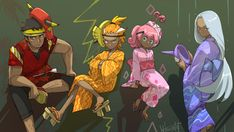 Tapu bulu, tapu koku, tapu lele, and tapu fini Gladio Pokemon, Gijinka Pokemon, Pokemon People, Pokemon Comics, Pokemon Funny, Pokemon Fan Art, Pokemon Images, Pokemon Pictures, Pokemon Human Form