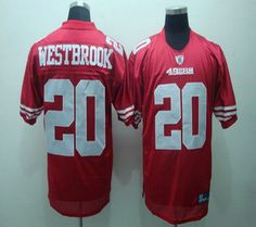 San Francisco 49ers 20 Brian Westbrook Red