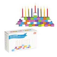 #Hanukkah Selections: Building Block Menorah | $30
