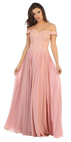 abbaa6d3de7e Long Chiffon Off The Shoulder Plus Size Formal Prom Dress. Mob DressesCheap  Bridesmaid ...