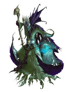 Lich from Pathfinder - My liches look quite different from this but it gives you the basic idea - evil undead sorcerer.