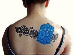The Tardis. -Body Art by ~Rose-Ann-Mary-K on deviantART