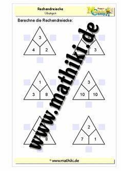 Rechendreiecke bis 20 - ©2011-2016, www.mathiki.de - Ihre Matheseite im Internet #math #addition #subtraktion #subtraction #arbeitsblatt #worksheet