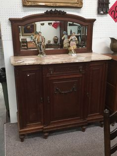 Antique 1930 S Art Deco Cloud Back Oak Buffet Sideboard